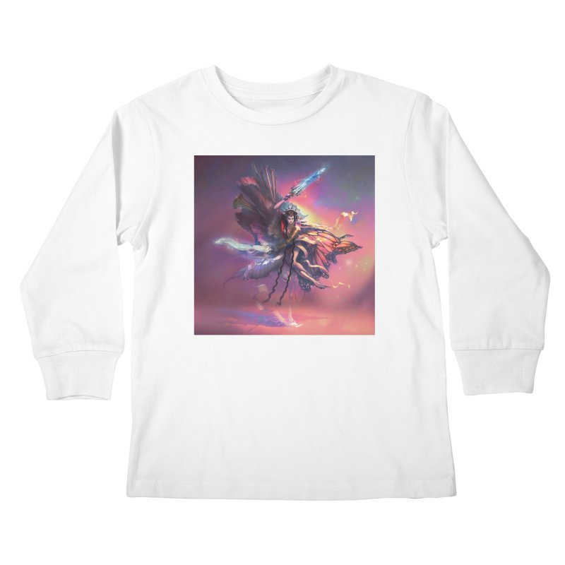 Angel Domini Kids Longsleeve T-Shirt by Draw Juice Custom Art Prints