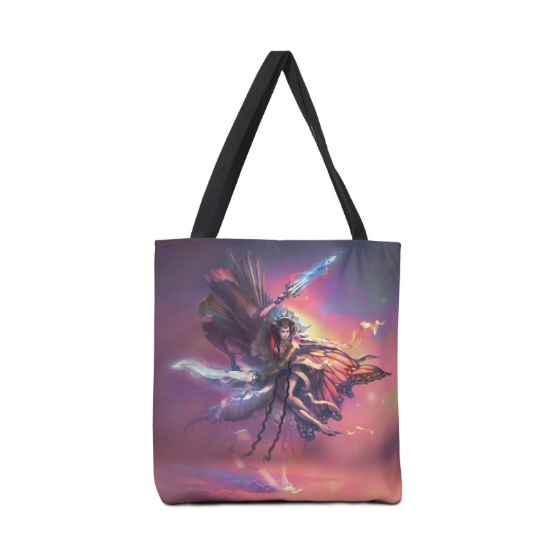 Angel Domini Accessories Tote Bag Bag by Draw Juice Custom Art Prints