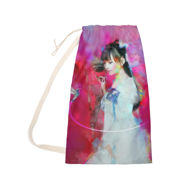Hui Zi at the Red Door Accessories Laundry Bag Bag by Draw Juice Custom Art Prints