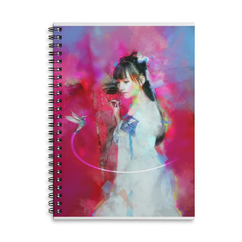 Hui Zi at the Red Door Accessories Lined Spiral Notebook by Draw Juice Custom Art Prints