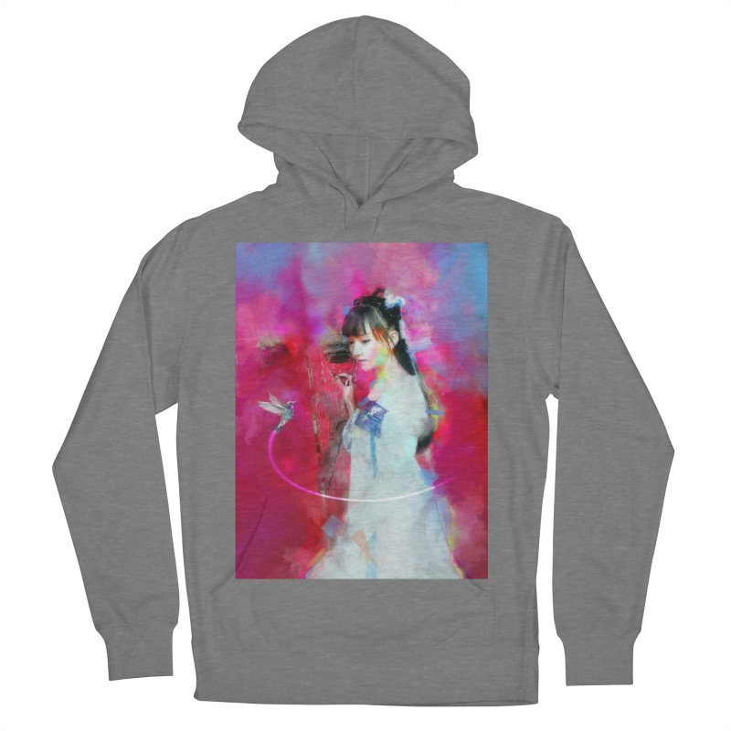 Hui Zi at the Red Door Women's French Terry Pullover Hoody by Draw Juice Custom Art Prints