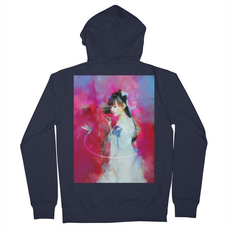 Hui Zi at the Red Door Women's French Terry Zip-Up Hoody by Draw Juice Custom Art Prints