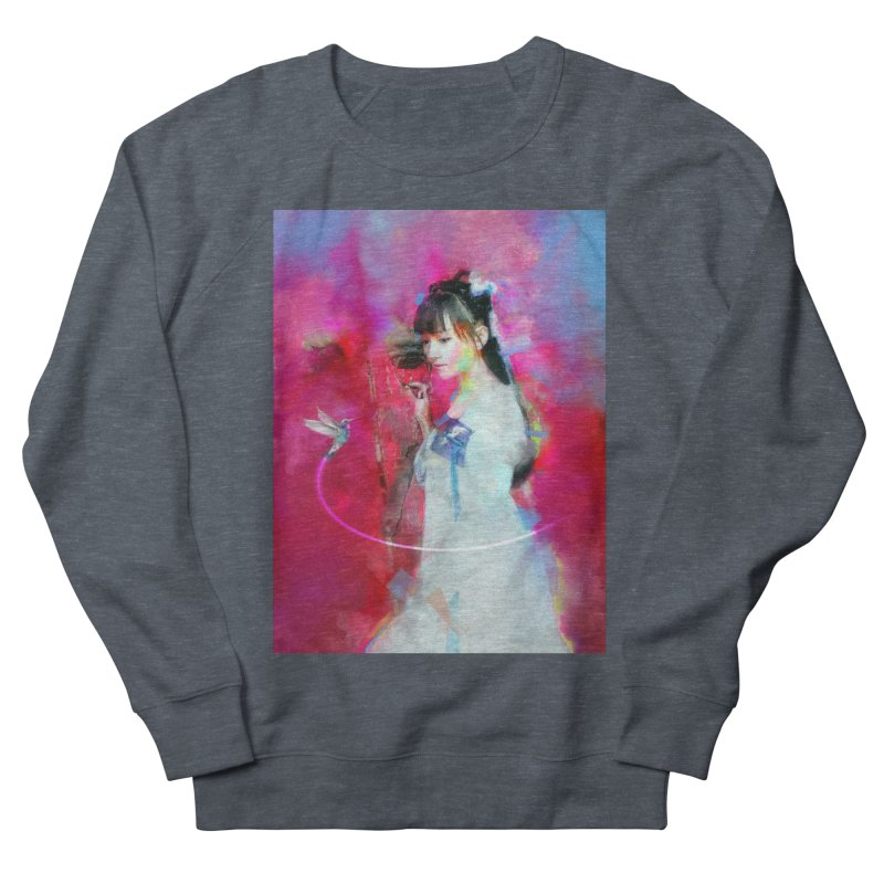 Hui Zi at the Red Door Women's French Terry Sweatshirt by Draw Juice Custom Art Prints