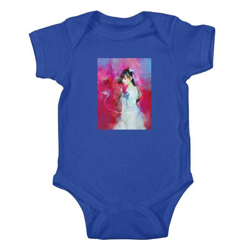 Hui Zi at the Red Door Kids Baby Bodysuit by Draw Juice Custom Art Prints