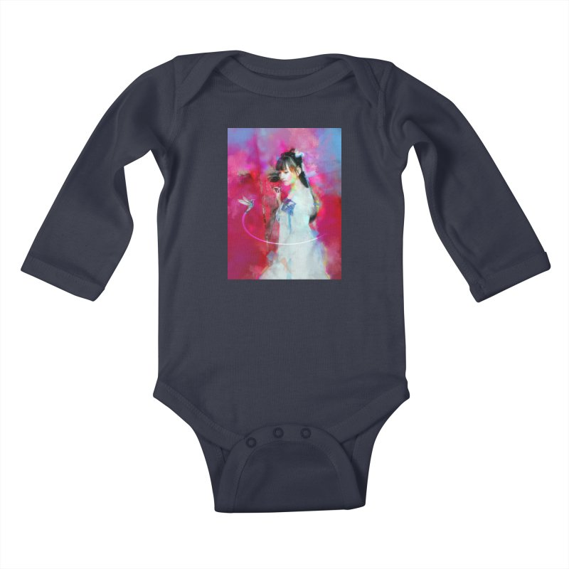 Hui Zi at the Red Door Kids Baby Longsleeve Bodysuit by Draw Juice Custom Art Prints