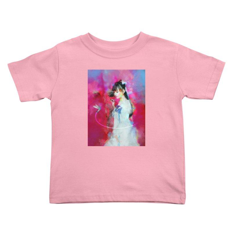 Hui Zi at the Red Door Kids Toddler T-Shirt by Draw Juice Custom Art Prints