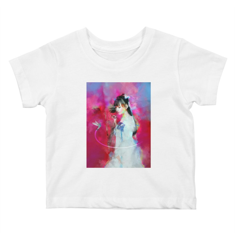 Hui Zi at the Red Door Kids Baby T-Shirt by Draw Juice Custom Art Prints