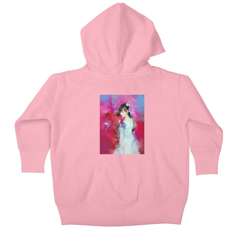 Hui Zi at the Red Door Kids Baby Zip-Up Hoody by Draw Juice Custom Art Prints