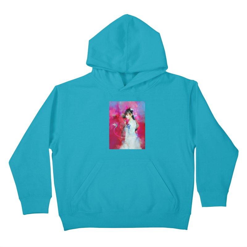 Hui Zi at the Red Door Kids Pullover Hoody by Draw Juice Custom Art Prints
