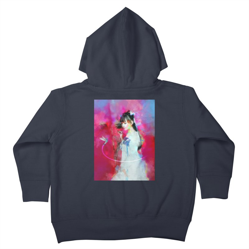 Hui Zi at the Red Door Kids Toddler Zip-Up Hoody by Draw Juice Custom Art Prints
