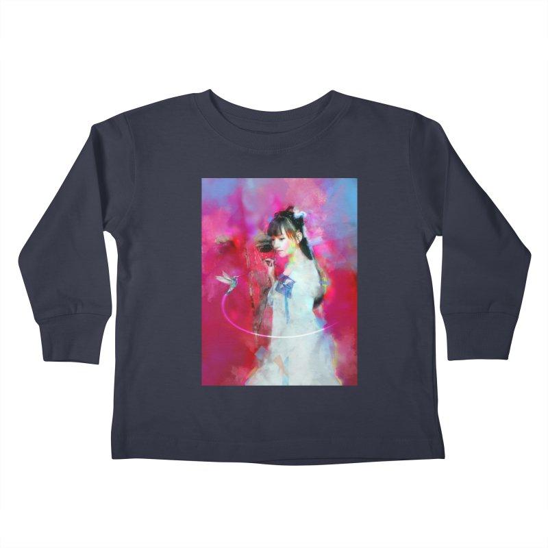 Hui Zi at the Red Door Kids Toddler Longsleeve T-Shirt by Draw Juice Custom Art Prints