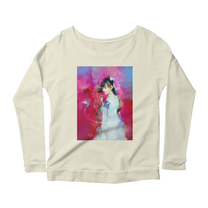 Hui Zi at the Red Door Women's Scoop Neck Longsleeve T-Shirt by Draw Juice Custom Art Prints