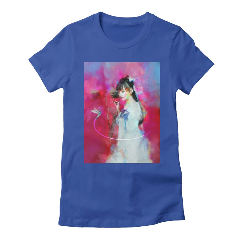 Hui Zi at the Red Door Women's Fitted T-Shirt by Draw Juice Custom Art Prints