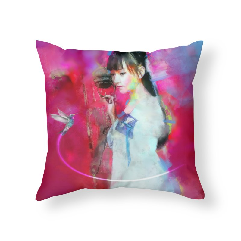 Hui Zi at the Red Door Home Throw Pillow by Draw Juice Custom Art Prints
