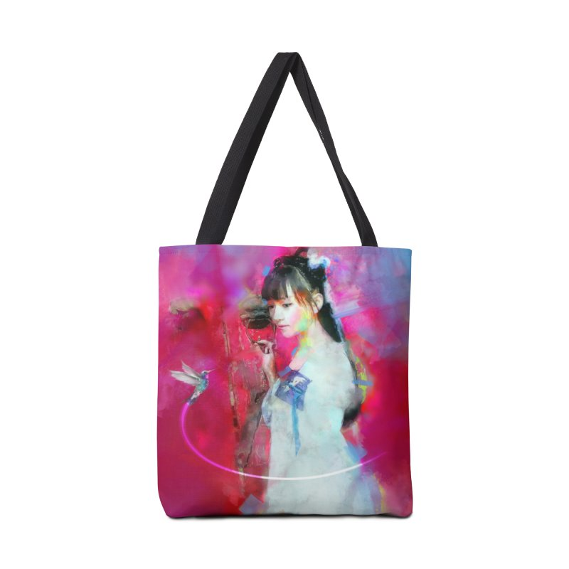 Hui Zi at the Red Door Accessories Tote Bag Bag by Draw Juice Custom Art Prints