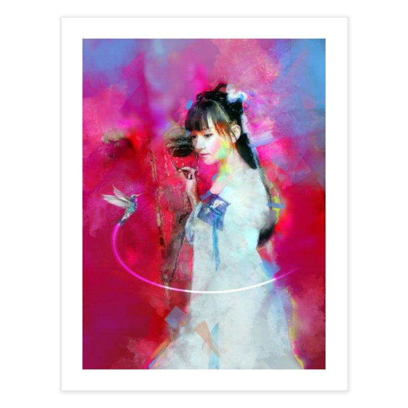 Hui Zi at the Red Door Home Fine Art Print by Draw Juice Custom Art Prints