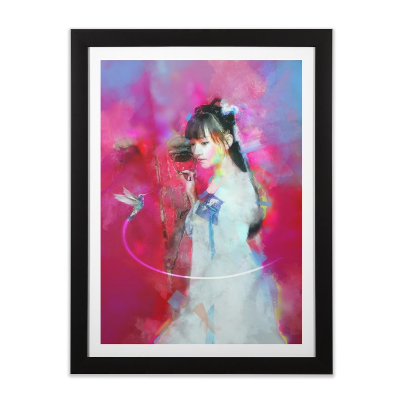Hui Zi at the Red Door Home Framed Fine Art Print by Draw Juice Custom Art Prints