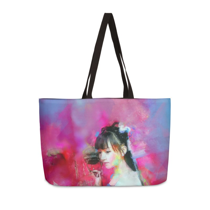 Hui Zi at the Red Door Accessories Weekender Bag Bag by Draw Juice Custom Art Prints