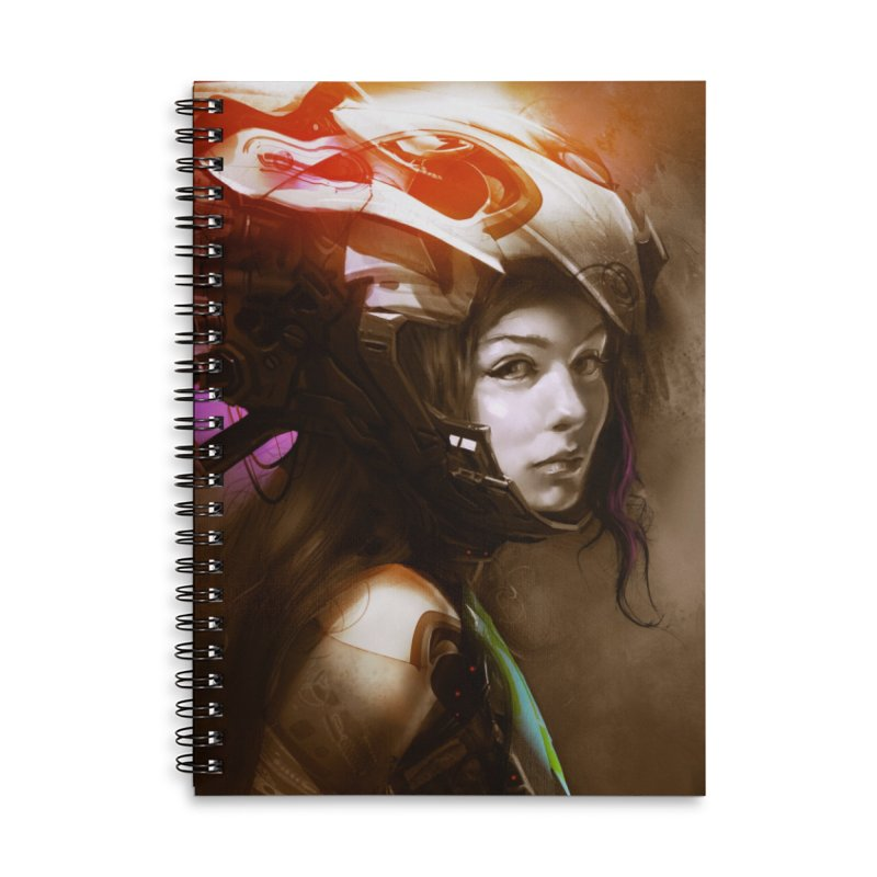 Hooked Up Accessories Lined Spiral Notebook by Draw Juice Custom Art Prints