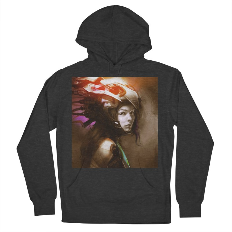 Hooked Up Women's French Terry Pullover Hoody by Draw Juice Custom Art Prints