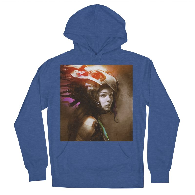 Hooked Up Men's French Terry Pullover Hoody by Draw Juice Custom Art Prints