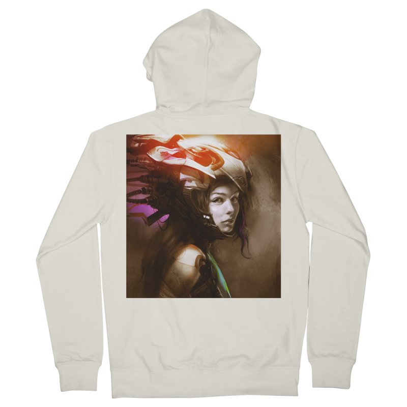 Hooked Up Men's French Terry Zip-Up Hoody by Draw Juice Custom Art Prints