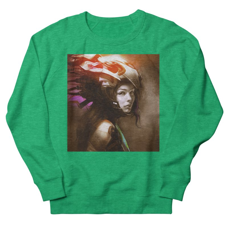 Hooked Up Men's French Terry Sweatshirt by Draw Juice Custom Art Prints