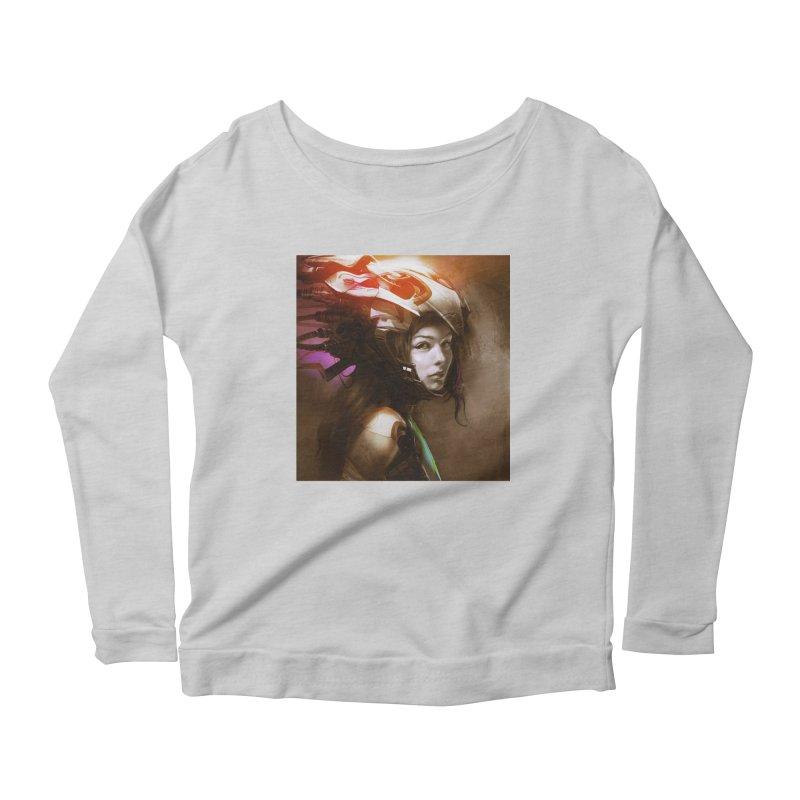 Hooked Up Women's Scoop Neck Longsleeve T-Shirt by Draw Juice Custom Art Prints
