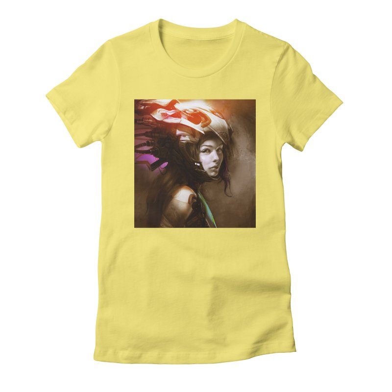 Hooked Up Women's Fitted T-Shirt by Draw Juice Custom Art Prints