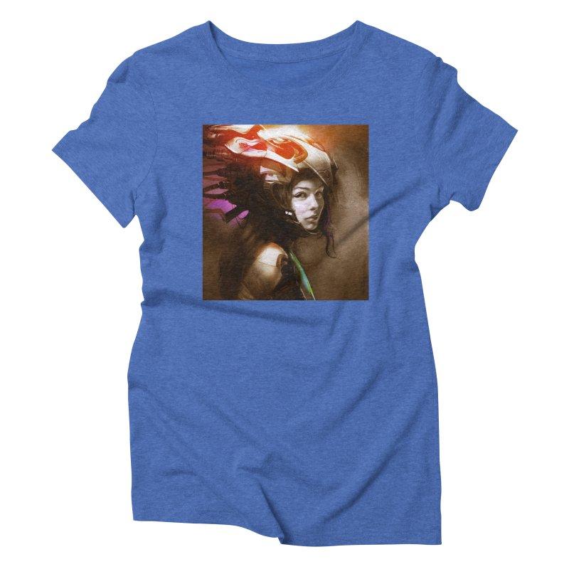 Hooked Up Women's Triblend T-Shirt by Draw Juice Custom Art Prints