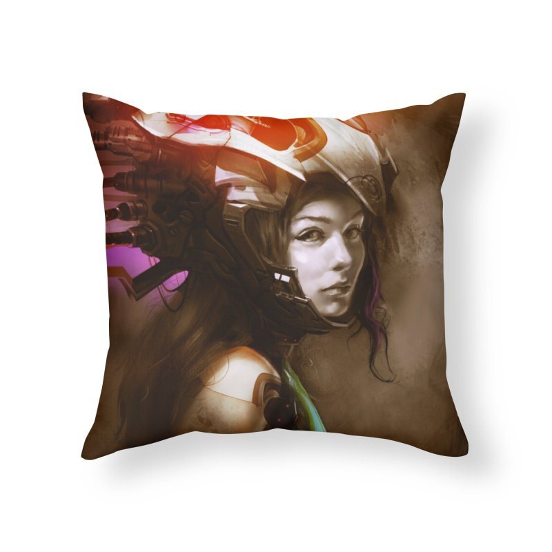 Hooked Up Home Throw Pillow by Draw Juice Custom Art Prints