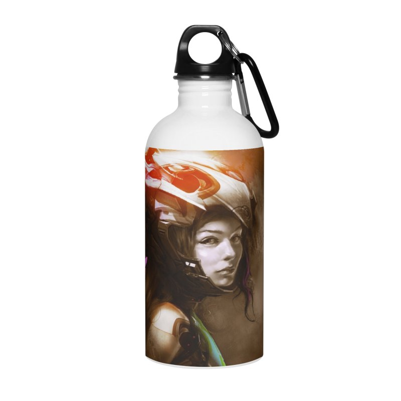 Hooked Up Accessories Water Bottle by Draw Juice Custom Art Prints