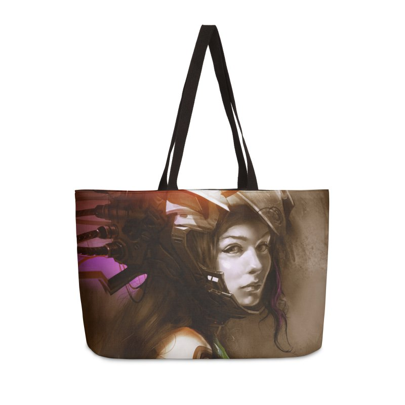 Hooked Up Accessories Weekender Bag Bag by Draw Juice Custom Art Prints