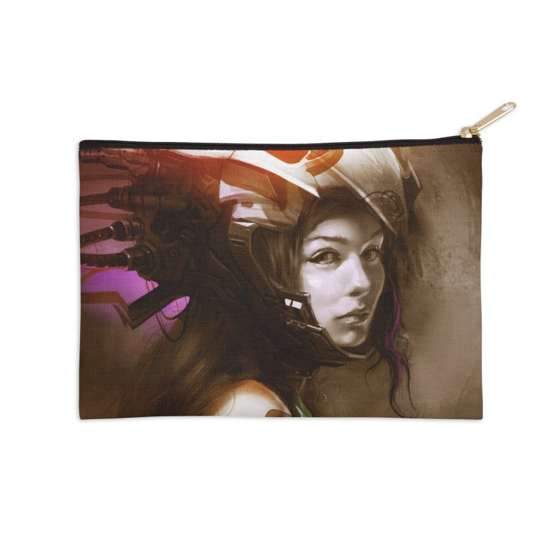 Hooked Up Accessories Zip Pouch by Draw Juice Custom Art Prints