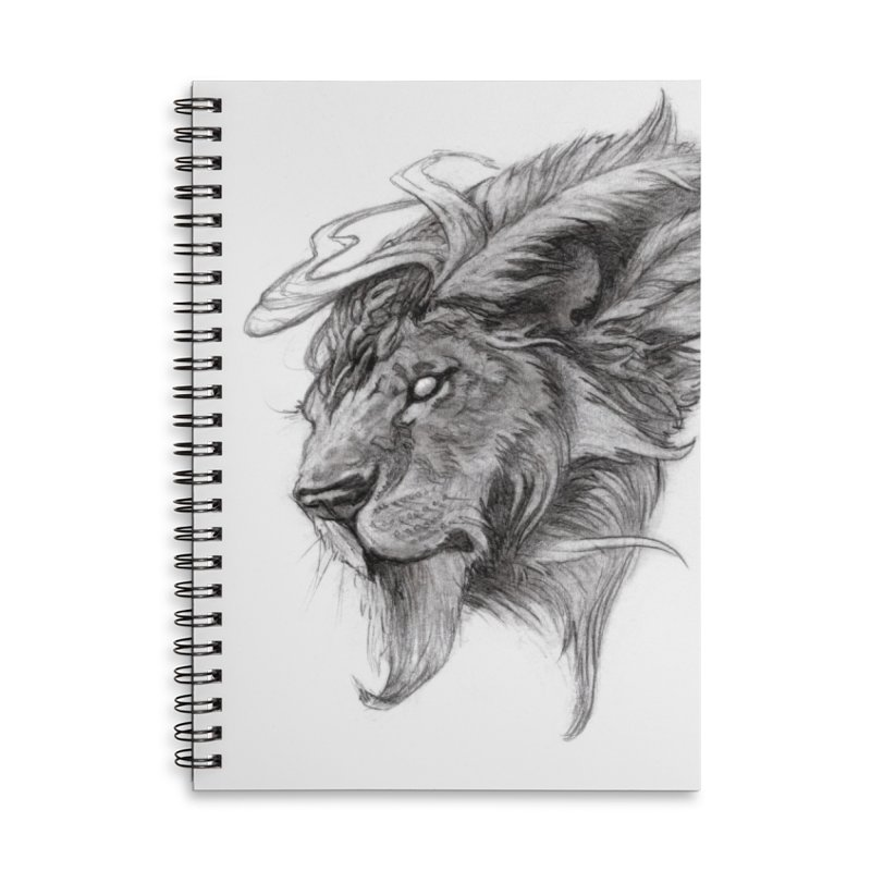 He isn't safe, but, he's good Accessories Lined Spiral Notebook by Draw Juice Custom Art Prints