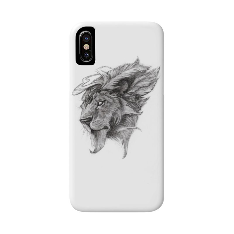 He isn't safe, but, he's good Accessories Phone Case by Draw Juice Custom Art Prints