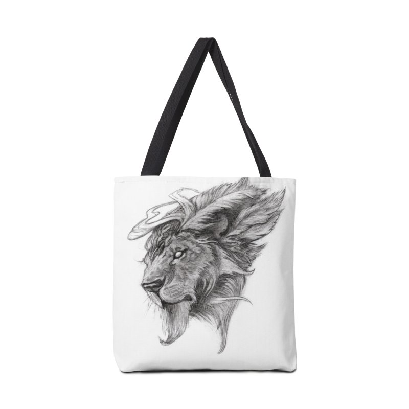 He isn't safe, but, he's good Accessories Tote Bag Bag by Draw Juice Custom Art Prints