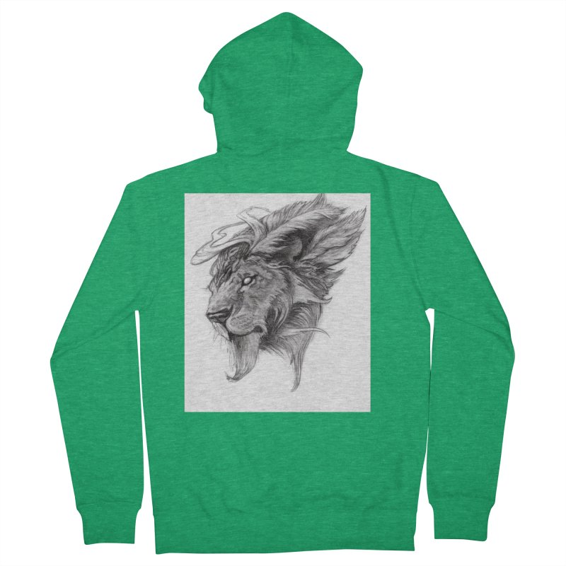 He isn't safe, but, he's good Women's Zip-Up Hoody by Draw Juice Custom Art Prints