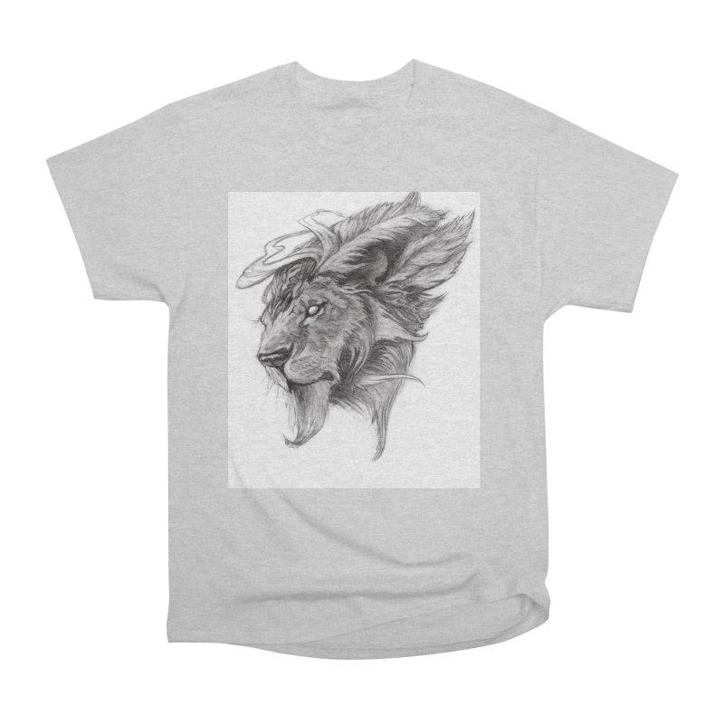 He isn't safe, but, he's good Women's Heavyweight Unisex T-Shirt by Draw Juice Custom Art Prints