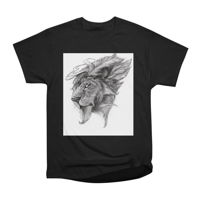 He isn't safe, but, he's good Women's Heavyweight Unisex T-Shirt by Draw Juice Custom Art Prints