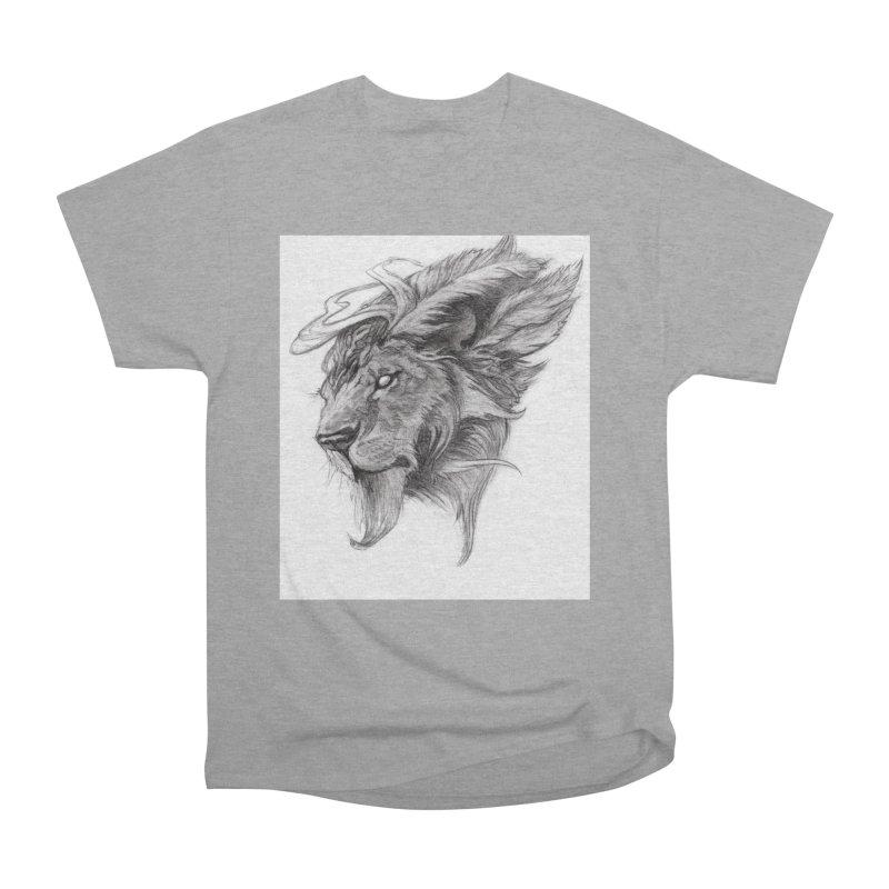 He isn't safe, but, he's good Men's Heavyweight T-Shirt by Draw Juice Custom Art Prints