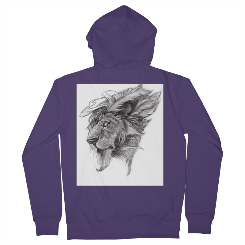 He isn't safe, but, he's good Women's French Terry Zip-Up Hoody by Draw Juice Custom Art Prints