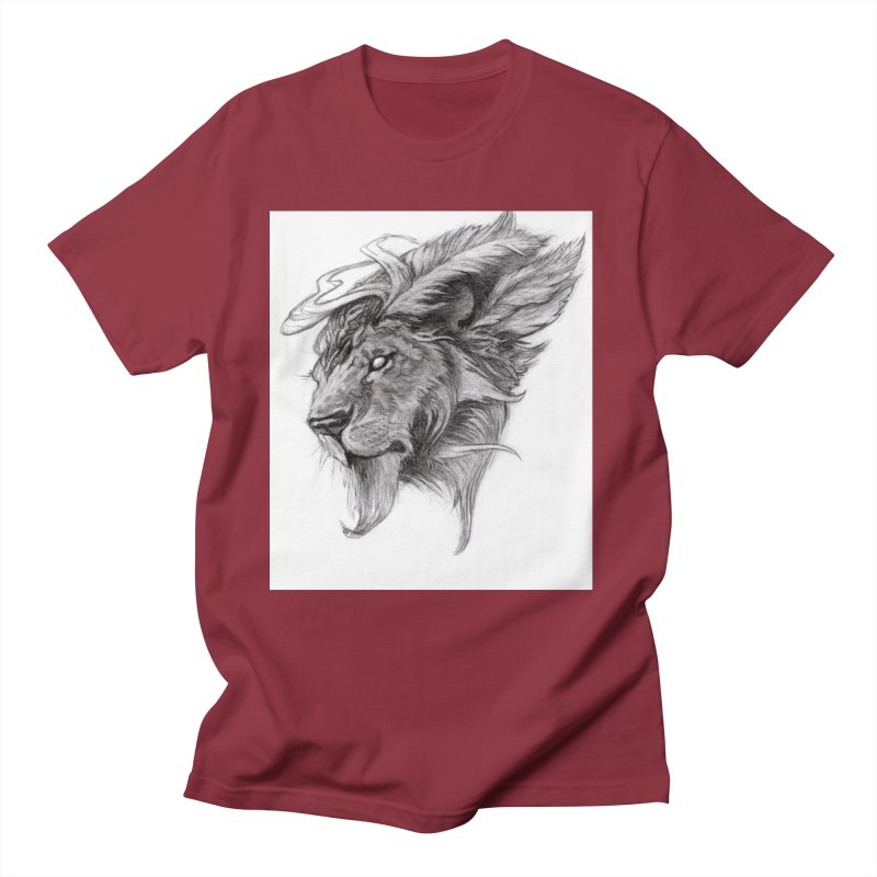 He isn't safe, but, he's good Men's Regular T-Shirt by Draw Juice Custom Art Prints