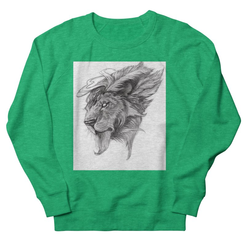 He isn't safe, but, he's good Women's Sweatshirt by Draw Juice Custom Art Prints