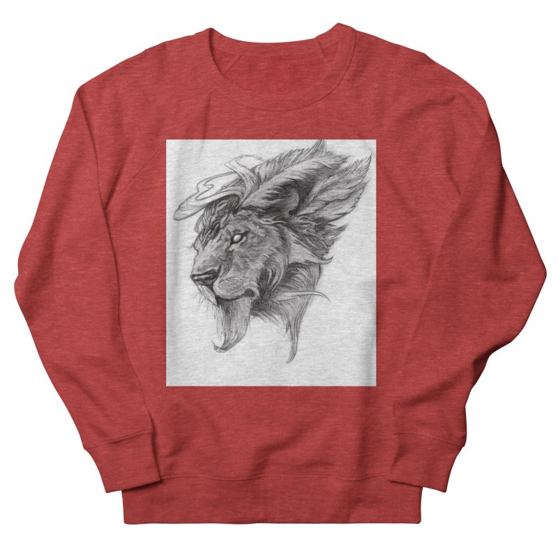 He isn't safe, but, he's good Men's French Terry Sweatshirt by Draw Juice Custom Art Prints