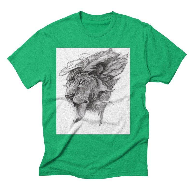 He isn't safe, but, he's good Men's Triblend T-Shirt by Draw Juice Custom Art Prints