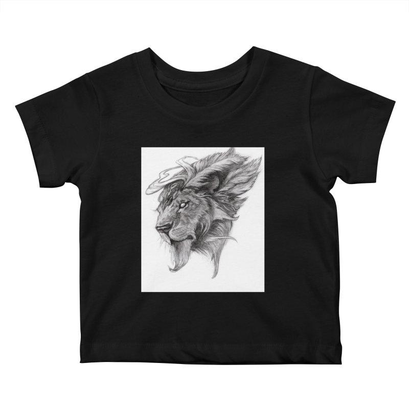He isn't safe, but, he's good Kids Baby T-Shirt by Draw Juice Custom Art Prints