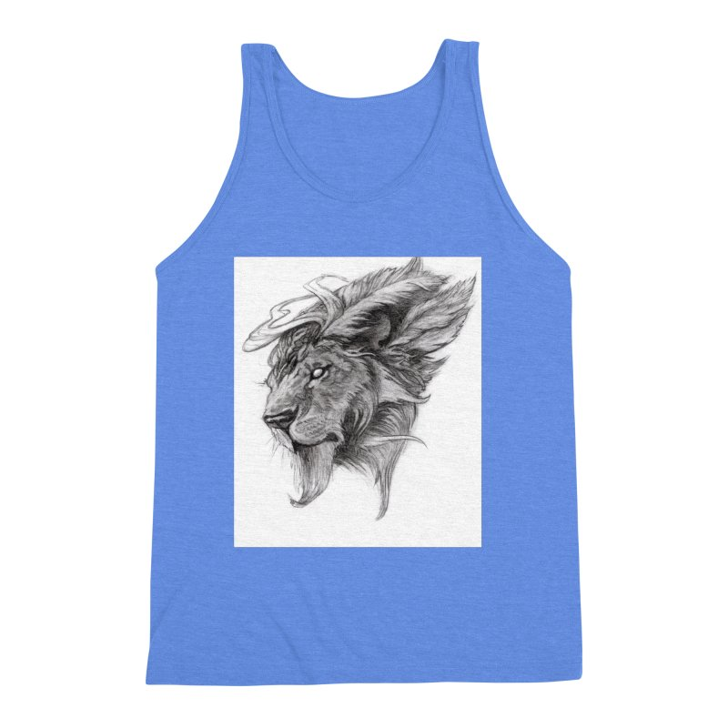 He isn't safe, but, he's good Men's Triblend Tank by Draw Juice Custom Art Prints