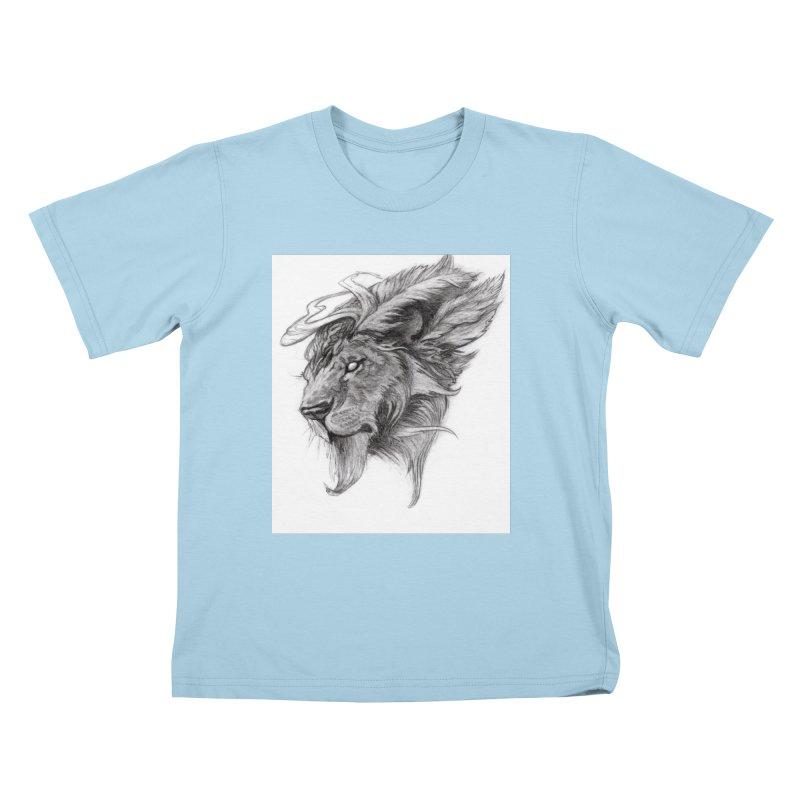 He isn't safe, but, he's good Kids T-Shirt by Draw Juice Custom Art Prints