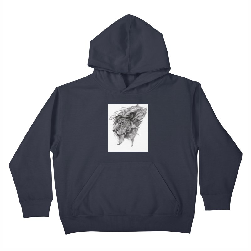He isn't safe, but, he's good Kids Pullover Hoody by Draw Juice Custom Art Prints